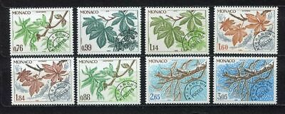 s3897) MONACO 1980/81 MNH**  Precancels 8v the four seasons