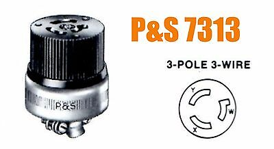 PASS & SEYMOUR NEW 3 Pole 3 Wire 7313 20A 125/250V Armored CONNECTOR New