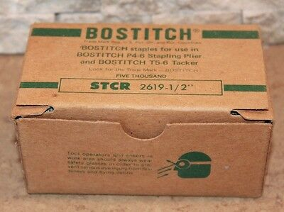 "Bostitch Box 5000 STCR 2619 1/2"" Staples For P4-6 & T5-6 Staple Guns Tacker"