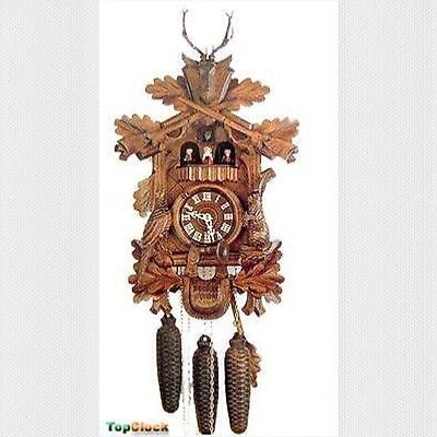 DOLD MT82 Live Animal Hunter 1 Day German Cuckoo Clock
