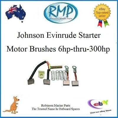 A Brand New Set Of Starter Motor Brushes For Evinrude Johnson Outboards R 385952