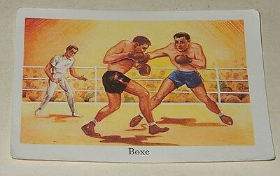 Ancienne Image du type Bon Point : BOXE - Sport EDITIONS EDUCATIVES