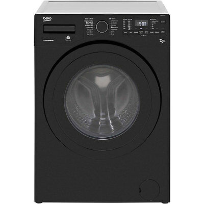 Beko WDR7543121B Free Standing 7Kg 1400 Spin Washer Dryer Black New from AO
