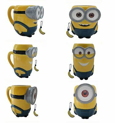 Minions 3D Mug Ceramic Bob Stuart Kevin New Gifts Kids 100% Official Free P+P