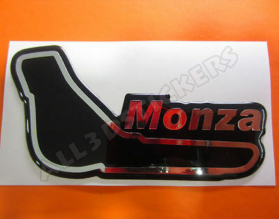 """3D Sticker Resin Domed Monza Circuit  13x7 cm (5.12x2.76 """") Adhesive Decal"""
