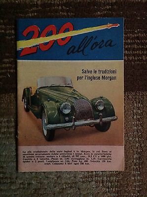 Rara Rivista 200 all'Ora-MORGAN Spyder del 1961