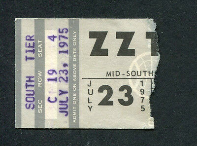 1975 ZZ Top Aerosmith Concert Ticket Stub Memphis Fandango Toys In The Attic