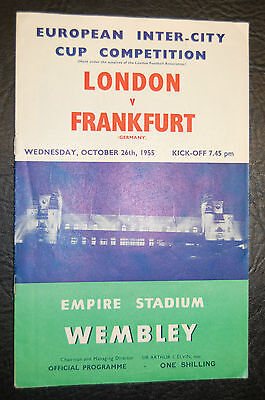 1955 European Fairs Cup London V Frankfurt