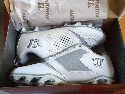 Warrior Burn Lacrosse Cleats size 10 white