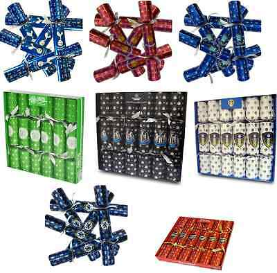 Football Teams Christmas Crackers Red Blue Green Holiday Season / Gift Ideas