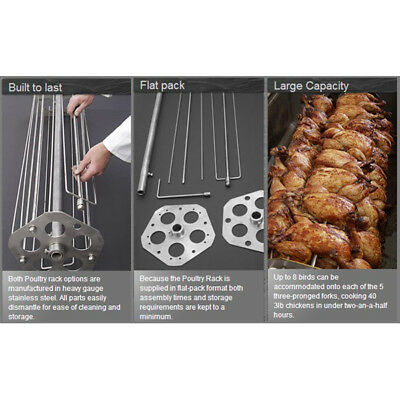 New Stainless Steel Hog Roast Poultry Rack