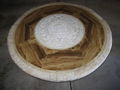 Marble Stone Round Coffee Table 4ft Wide