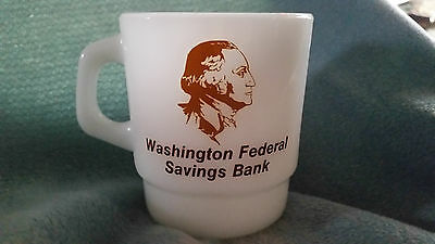 Washington Federal Savings Bank White Coffee Mug