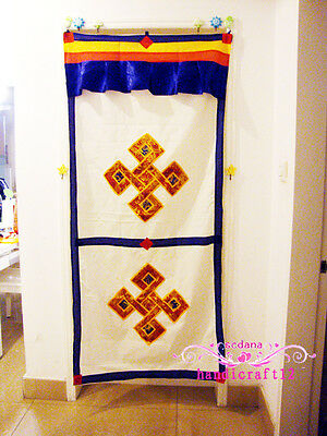 Tibetan traditional Door Curtain Chinese Knot of Design Cotton Hand Made Curtain