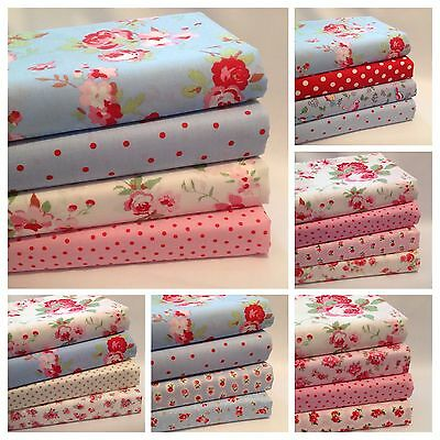 Fat Quarter Bundles & Fabric Squares 100% Cotton Inc Cath Kidston Rose & Hubble