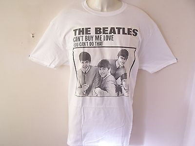 *new* Official The Beatles Can't Buy Me Love Mens White T Shirt L Xl Xxl Size