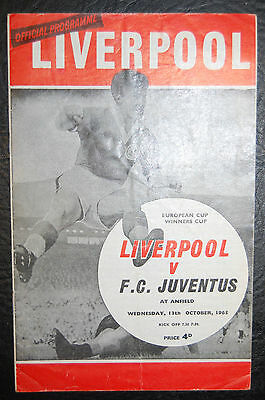 Liverpool V Fc Juventus  1965 European Cup Winners Cup