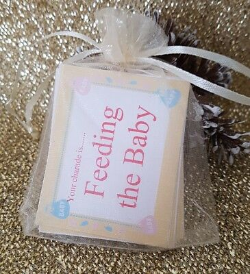 Baby Shower Charades  Baby Shower Game  Mum to be  Funny baby shower game  Baby