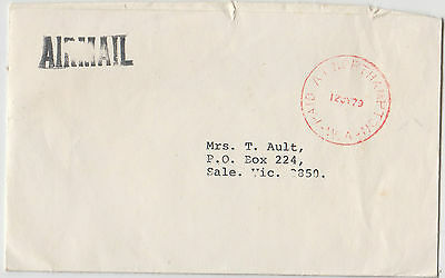 PAID AT NORTHAM postmark on cover Hutt River Province to Sale, Cinderella back