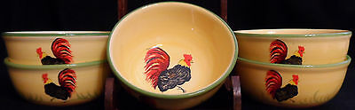 """Alcobaca Antonio Rosa, Lda - Portugal - """"mr. Rooster And Girls"""" - Soup Bowl"""