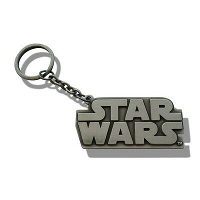 Star Wars Official Classic Collection Logo Key Ring Metal Keychain