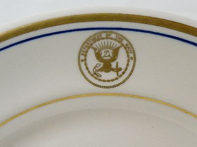 "Shenango/Anchor Hocking Department of the Navy Dinner Plate 9-3/4"" -Heavy China"