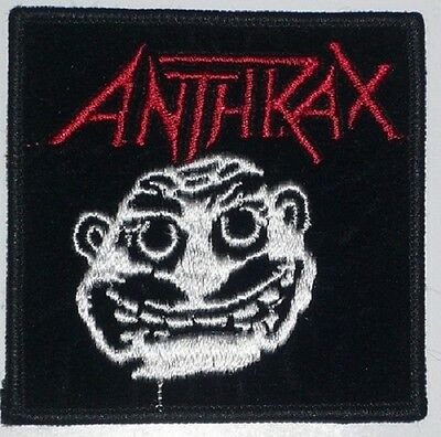 Anthrax Rare Authentic 1980,s Vinatge Embroidered Patch Metal Free Shipping