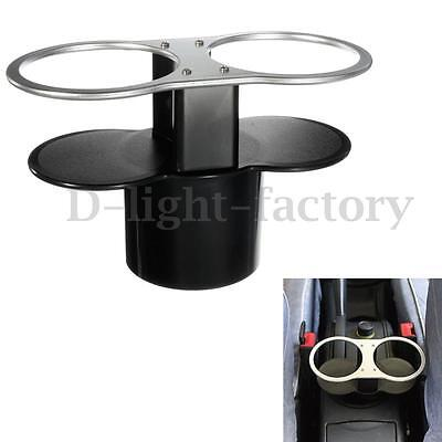 Universal Car Double Wedge Between Seat Dual Drink Cup Bottle Beverage Holder