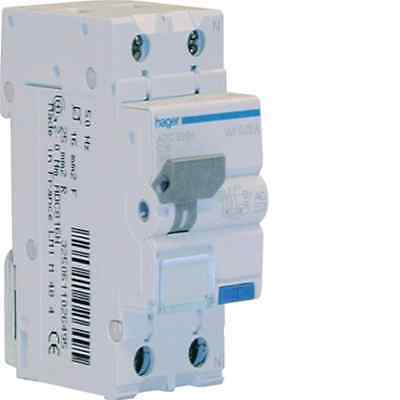 Hager Lume Adc806H Differenziale Magnetotermico 1P+N 30Ma 0,03A Ac 6A 4.5Ka C 2