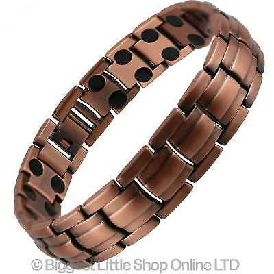 NEW Stylish Magnetic Bracelet Copper Finish Hi Strength NdFeB 36 Magnets Therapy