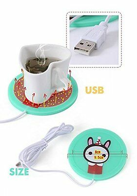 Office Desk USB Cup Warmer Cute Soldier Rabbit Cartoon Hot USB Powered warmer