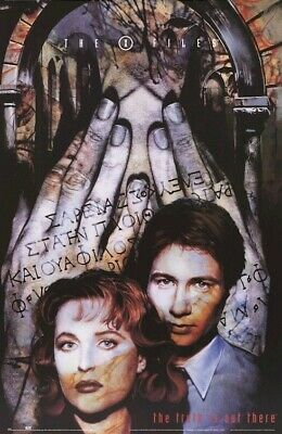 THE X-FILES POSTER ~  HANDS 23x35 TV David Duchovny Gillian Anderson