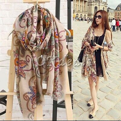 Lovely Womens Long Soft Chiffon Scarf Wrap Large Silk Winter Shawl Stole Scarves