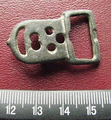 Authentic Ancient Artifact > 8th Century Byzantine Bronze belt buckle 13407