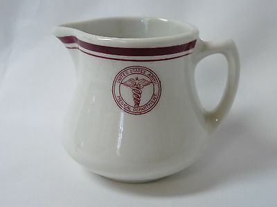 Shenango US Army Medical Department Cream Pitcher Creamer Red Seal and Bands
