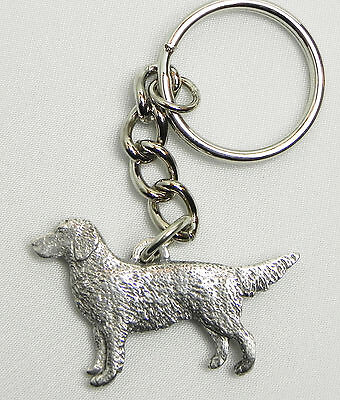 Golden Retriever Dog Keychain Keyring Harris Pewter Made USA Key Chain Ring