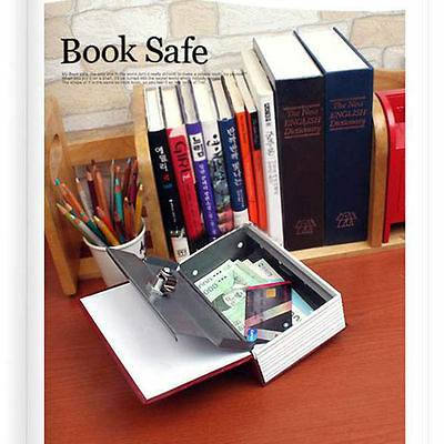 Home Security Dictionary Book Safe Storage Key Lock Box for Cash Jewelry Small