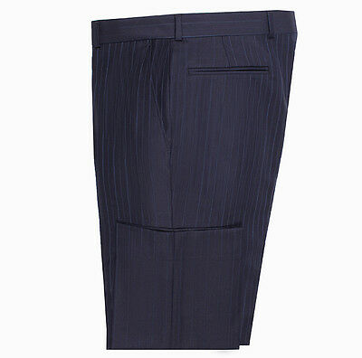 Cambridge Suit Trouser Navy with Blue Pinstripe