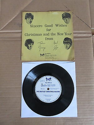 """THE BEATLES  Beatles Chistmas Record 7"""" FLEXI DISC VERY RARE 1963 FAN CLUB ONLY"""