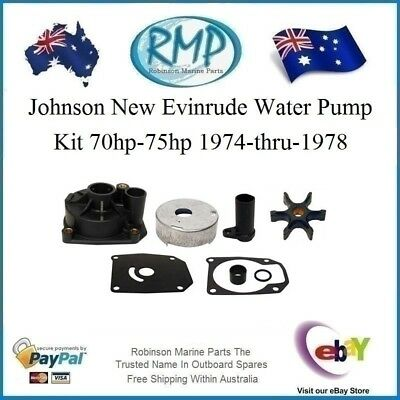 A Brand New Water Pump Kit Suits Evinrude Johnson 70hp-75hp 1974-1978 # R 438579