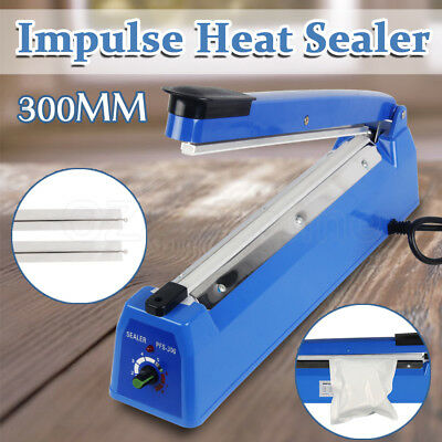 300mm Impulse Heat Sealer Electric Plastic Poly Bag Sealing Machine NEW
