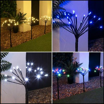 50cm 5 Pack Outdoor Sparkler LED Path Stake Lights | Christmas Garden Lawn Drive