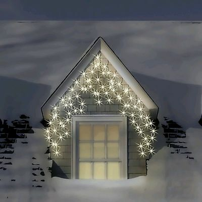 300 LED Xmas ICE WHITE Christmas Light Multi Function Snowing Icicles