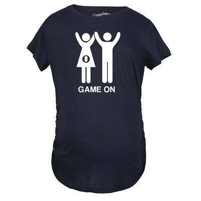 Maternity Game On Announcement T Shirt Funny Couple Pregnancy Tee