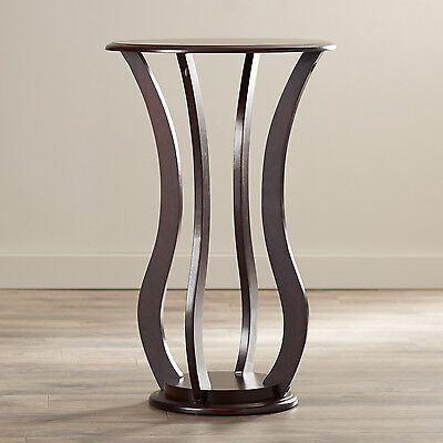 Pedestal Plant Stand Telephone Table Indoor Cherry Wood Sculpture Home Furniture