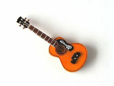 MINIATURE COLLECTABLE SPANISH ACOUSTIC GUITAR 8cm IN CASE - WOODEN -  NEW/ BOXED