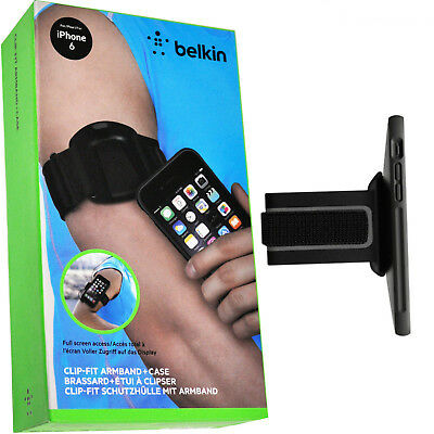 New Genuine Belkin F8W497Btc00 Clip-Fit Armband Case Black For Iphone 6 / 6S