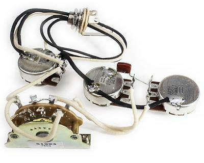 Prewired Basic Wiring Harness for Stratocaster, Bourns/Oak/Switchcraft