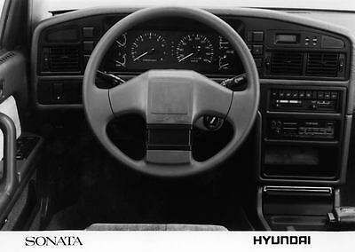 1989 Hyundai Sonata Interior Automobile Photo Poster Korea zua3479-87G7NK