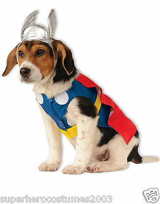 The Avengers Mighty Thor Marvel Comic Dog Costume Size XLarge NEW Rubies 580068